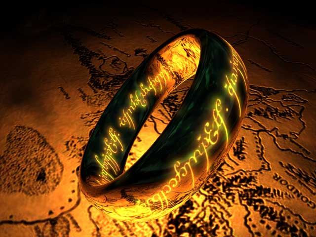The One Ring 3D Screensaver Screenshot
