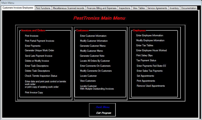 PestTronixs Software Suite Screenshot 1