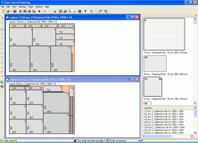 Cutting Software Solution Screenshot