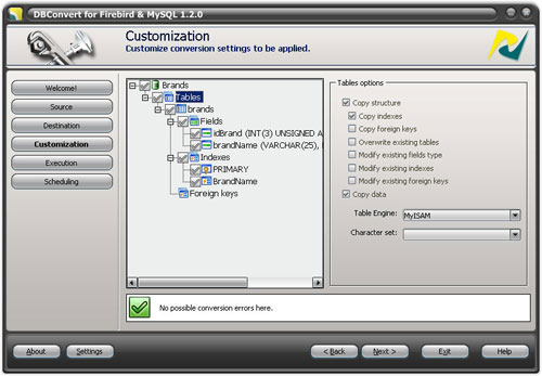 DBConvert for Firebird and MySQL Screenshot 1