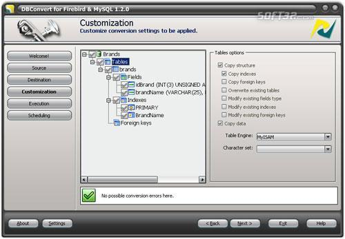 DBConvert for Firebird and MySQL Screenshot 2