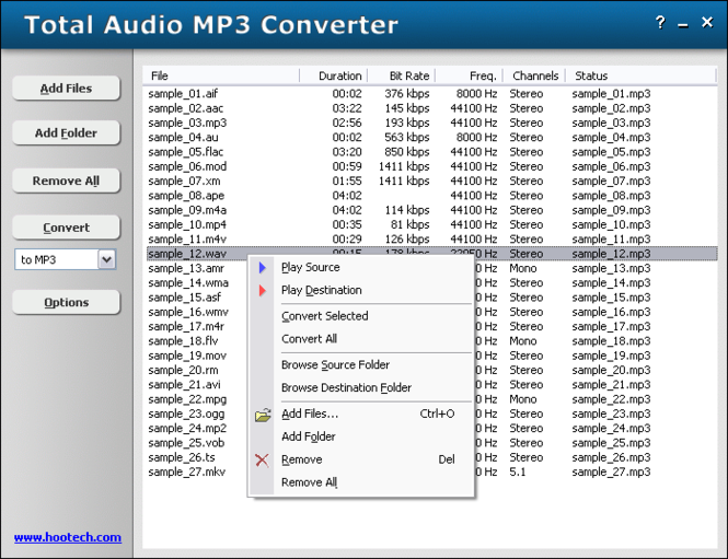 Total Audio MP3 Converter Screenshot 1