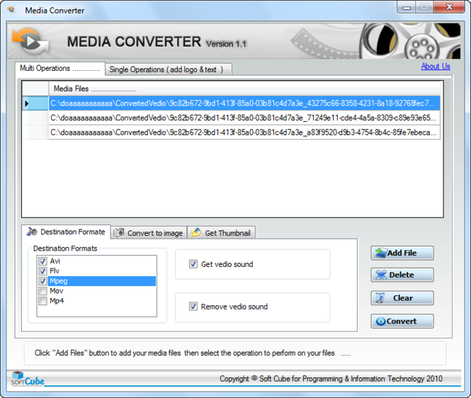 Free Media Converter Media Editor Screenshot