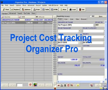 Project Cost Tracking Organizer Pro Screenshot 1