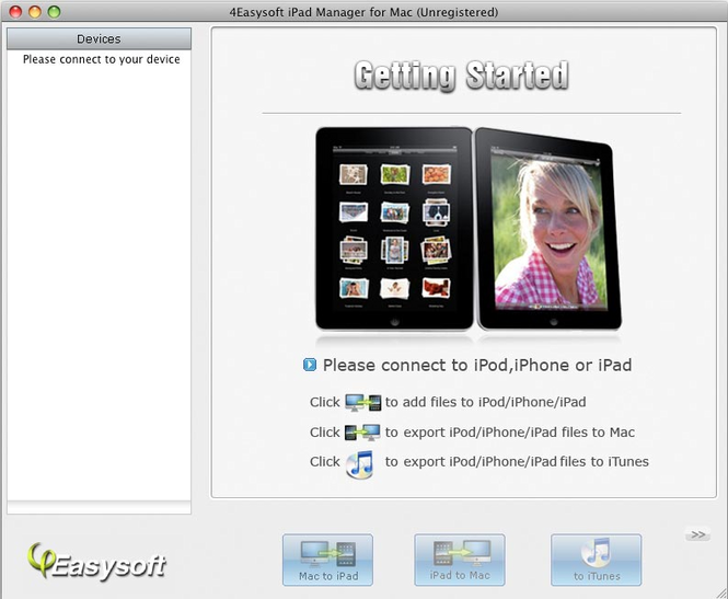 4Easysoft iPad Manager for Mac Screenshot