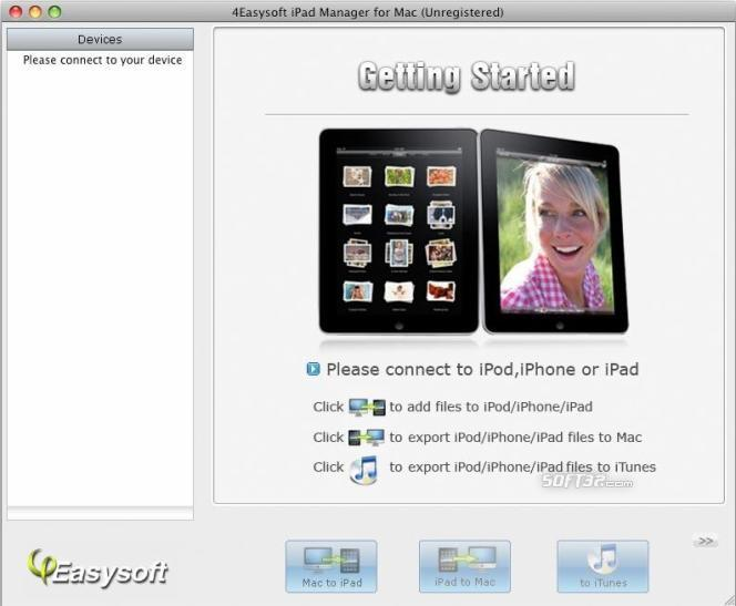 4Easysoft iPad Manager for Mac Screenshot 2