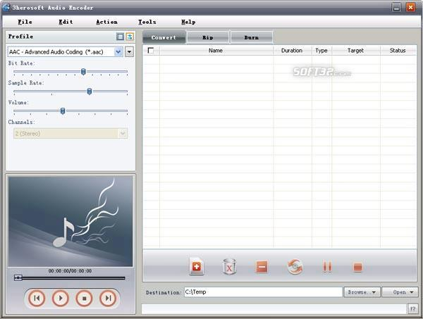 3herosoft Audio Encoder Screenshot 2