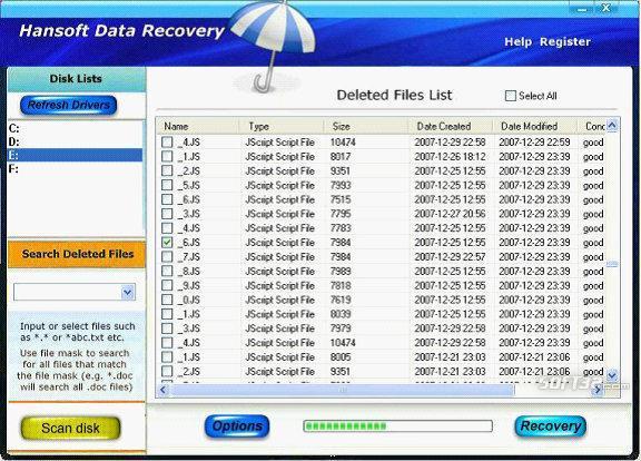 Hansoft Data Recovery Screenshot 2
