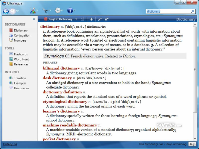 Esperanto-English Dictionary by Ultralingua for Windows Screenshot 2