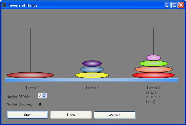 Towers of Hanoi Screenshot