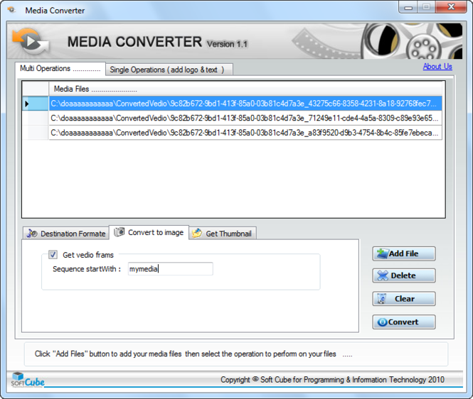 Media Converter Convert media file to any formate Screenshot