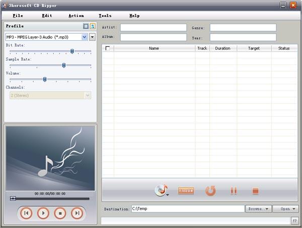 3herosoft CD Ripper Screenshot 1