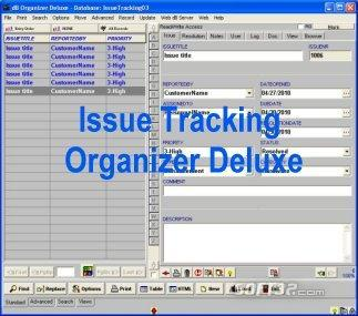 Issue Tracking Organizer Deluxe Screenshot 3