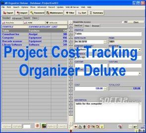Project Cost Tracking Organizer Deluxe Screenshot 3