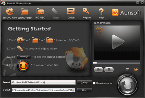 Aunsoft Blu-ray Ripper Screenshot 1