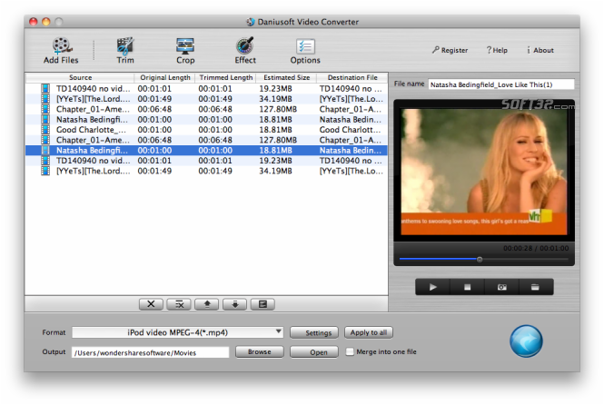 Daniusoft Video Converter for Mac Screenshot 3