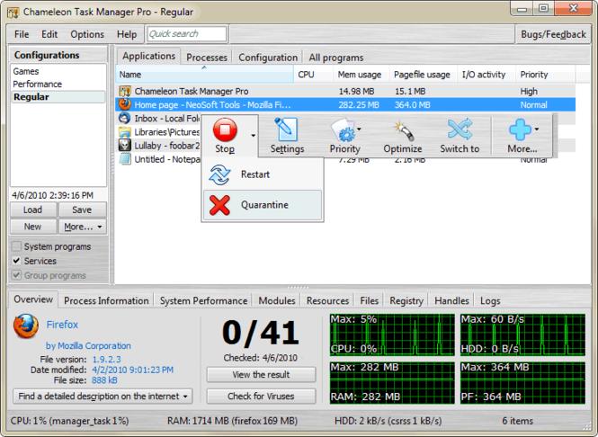 Chameleon Task Manager Lite Screenshot 1