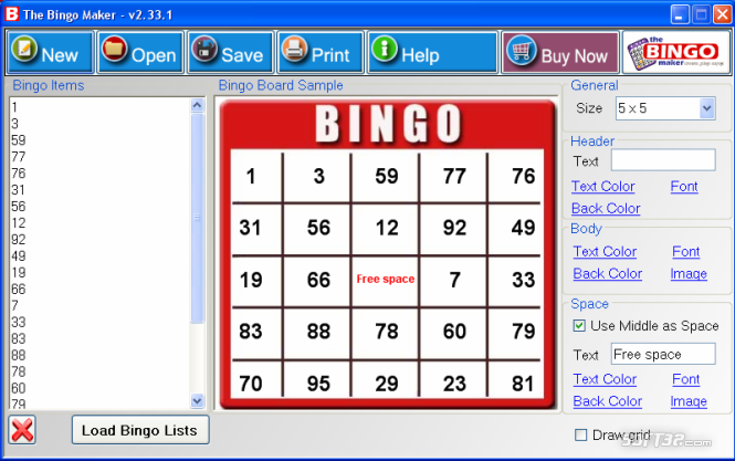 The Bingo Maker Screenshot 2