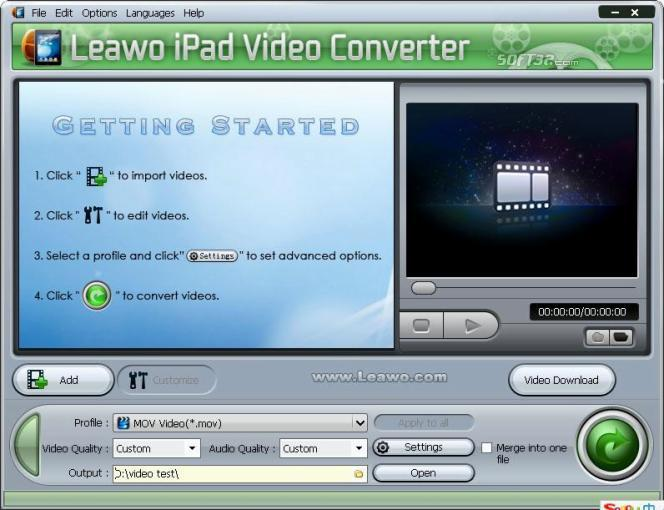 Leawo iPad Video Converter Screenshot 2