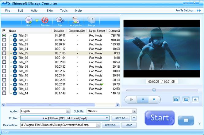 Shinesoft Blu-ray Converter Screenshot 2