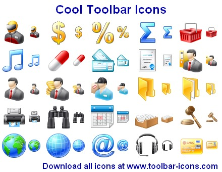 Cool Toolbar Icons Screenshot