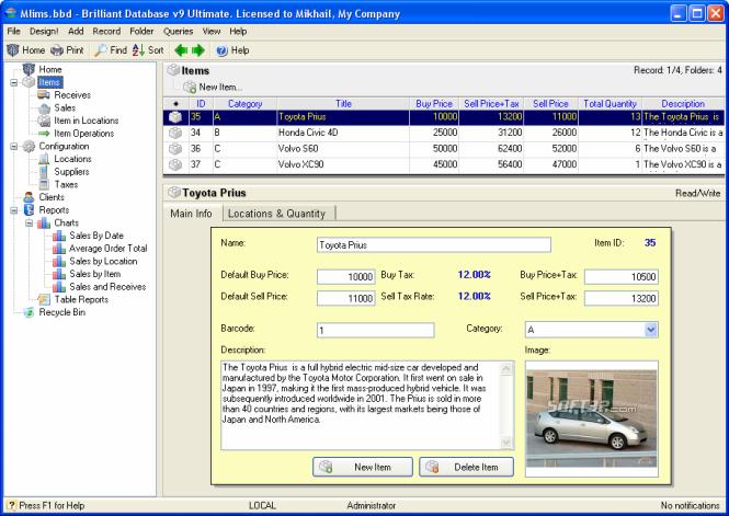 Brilliant Database Ultimate Screenshot 2