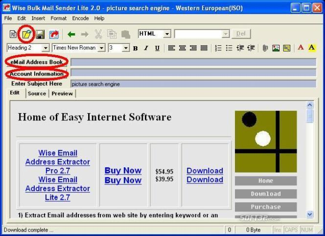 Wise Bulk Mail Sender Screenshot 1