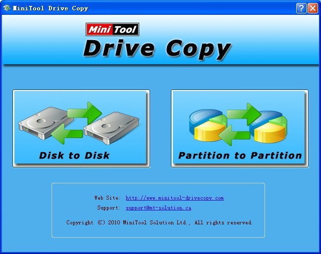 MiniTool Drive Copy Screenshot