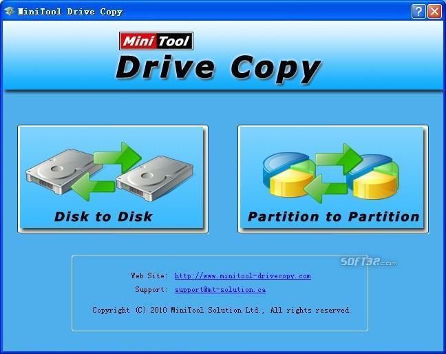 MiniTool Drive Copy Screenshot 2