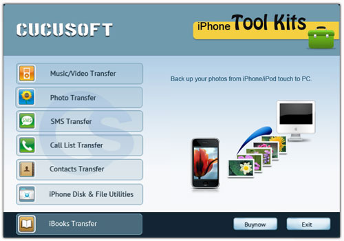 Cucusoft iPhone Tool Kits Screenshot