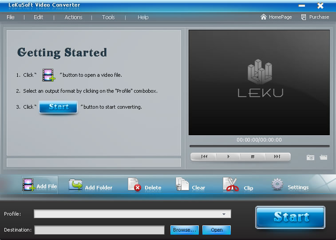 LeKuSoft Video Converter Screenshot