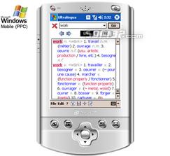 Esperanto-English Dictionary by Ultralingua for Windows Mobile Screenshot 2