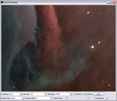 SpaceTheremin Screenshot 1