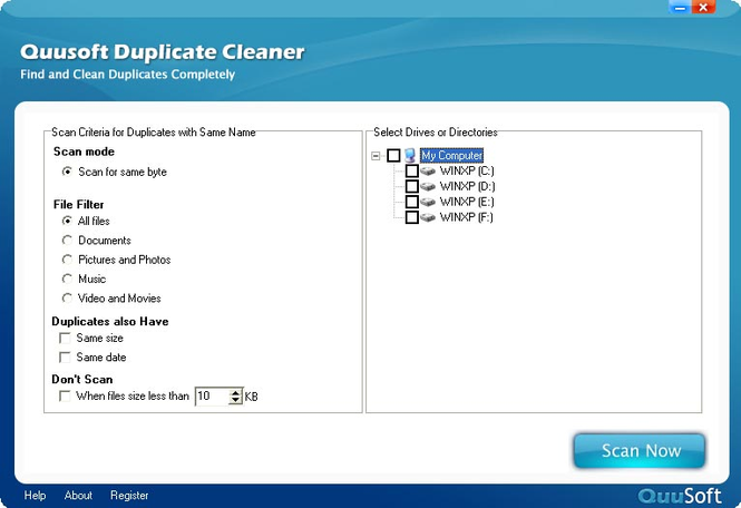 QuuSoft Duplicate Cleaner Screenshot 1