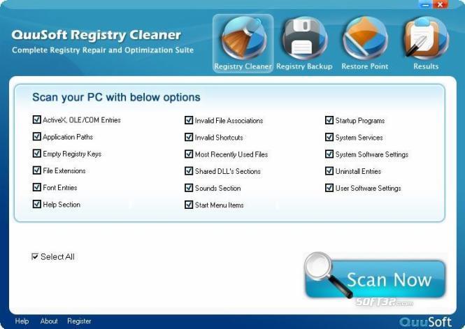 QuuSoft Registry Cleaner Screenshot 2