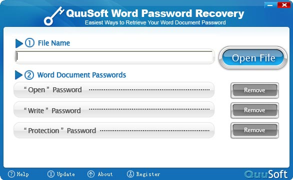 QuuSoft Word Password Recovery Screenshot 1