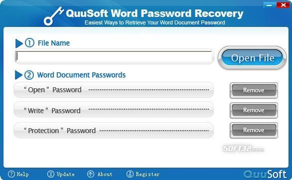 QuuSoft Word Password Recovery Screenshot 2