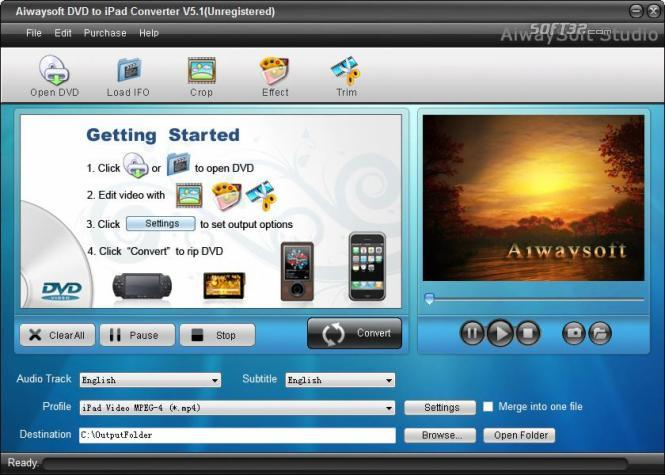 Aiwaysoft DVD to iPad Converter Screenshot 3