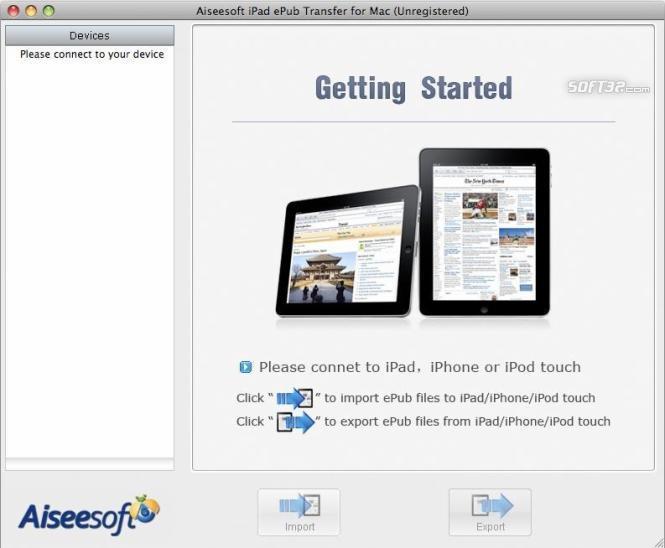 Aiseesoft iPad ePub Transfer for Mac Screenshot 3
