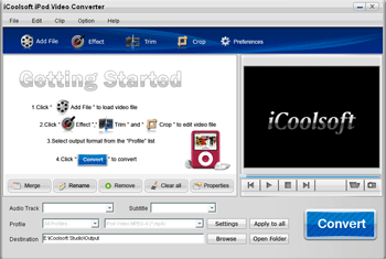 iCoolsoft iPod Video Converter Screenshot