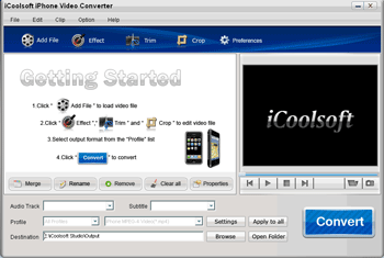 iCoolsoft iPhone Video Converter Screenshot 1