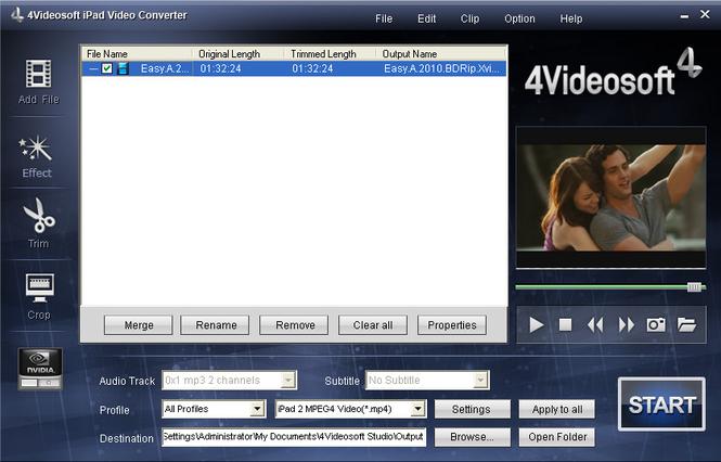 4Videosoft iPad Video Converter Screenshot 3