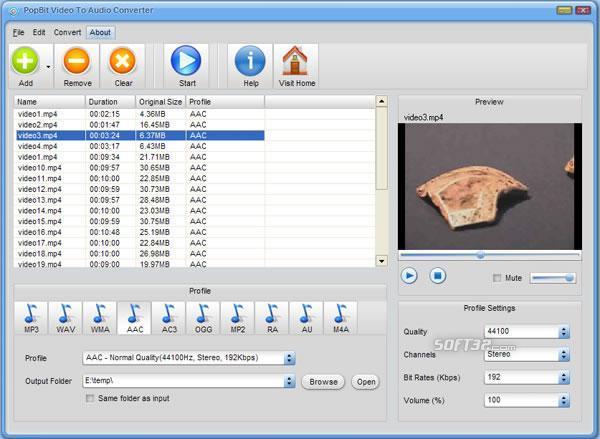 PopBit Video to Audio Converter Screenshot 2