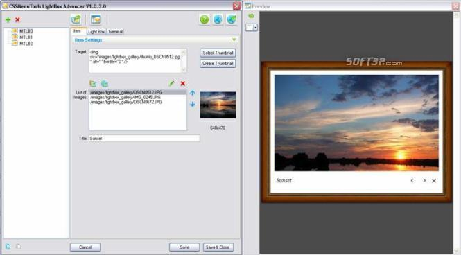 LightBox Advancer for Expression Web Screenshot 2