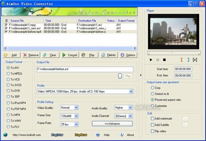 AimOne MOV Converter Screenshot 2