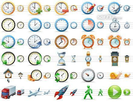 Large Time Icons Screenshot 2