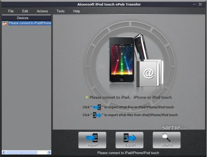 Aiseesoft iPod touch ePub Transfer Screenshot 2