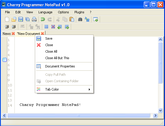 Charny Programmer NotePad Screenshot 1
