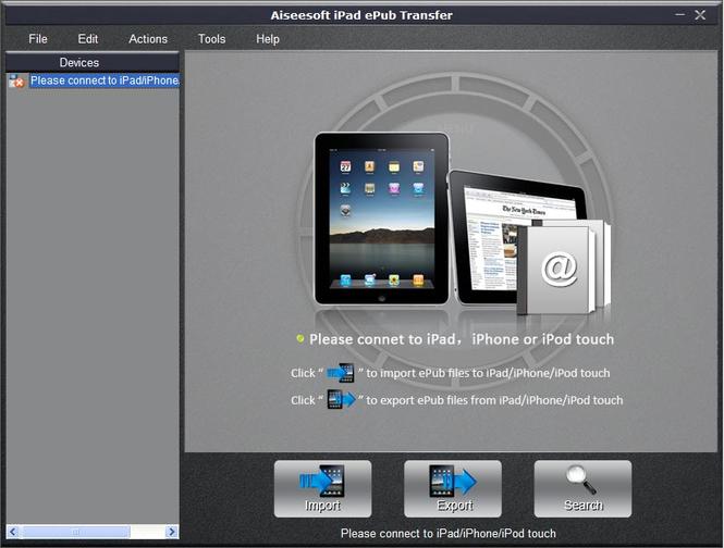 Aiseesoft iPad ePub Transfer Screenshot 1