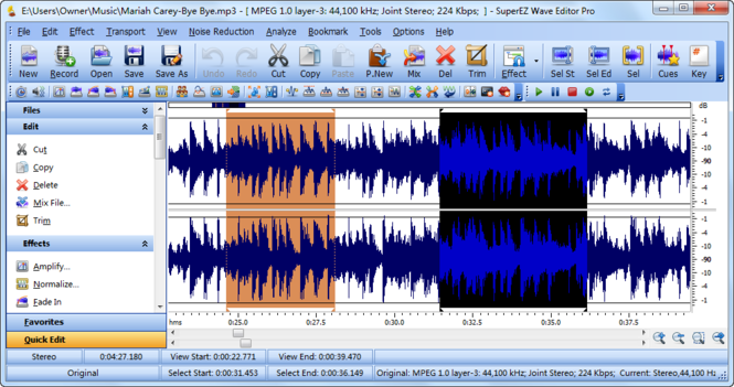 SuperEZ Wave Editor Pro 2010 Screenshot 1